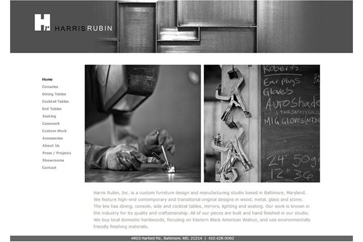 Harris Rubin Eyebuzz Design sample website